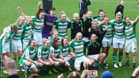 Yeovil Town celebrate promotion
