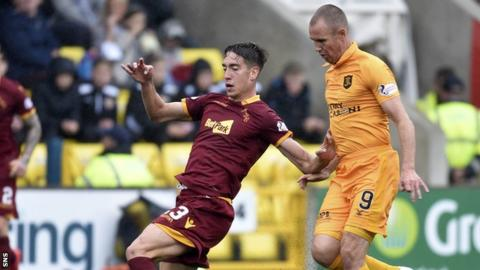 Kenny Miller and Alex Rodriguez of Motherwell