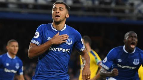 Dominic Calvert-Lewin scores Everton's opener