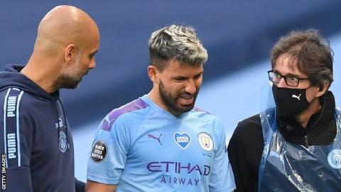 Manchester City star Sergio Aguero begins recovery following knee surgery