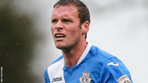 Eastleigh midfielder Andy Drury