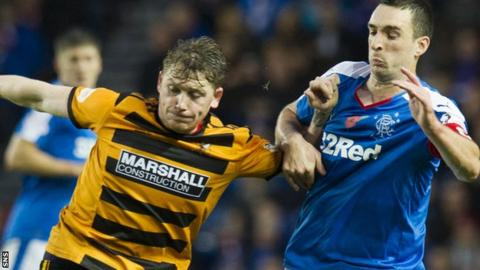 Michael Doyle in action for Alloa against Rangers