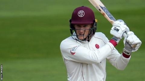 Somerset's George Bartlett hit a six and 13 fours on the way to his maiden first-class century