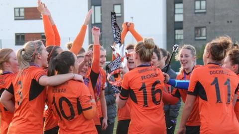 Glasgow City celebrate winning the title