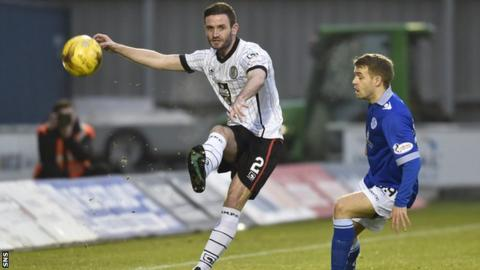 Jason Naismith playing for St Mirren against Queen of the South