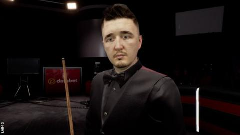 The computer version of Kyren Wilson