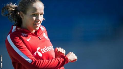 Guro Reiten training with Norway national team