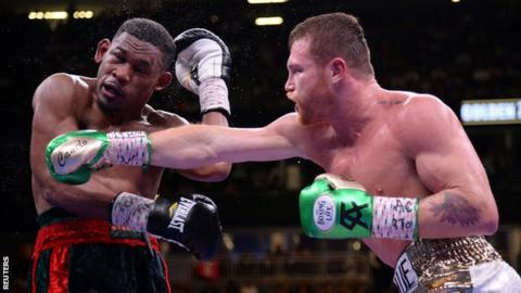 1726328e3f4a6b Saul 'Canelo' Alvarez beats Daniel Jacobs to unify middleweight division. 5  May; From the section Boxing