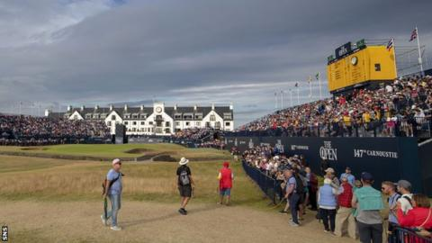 The 18th green at Carnoustie
