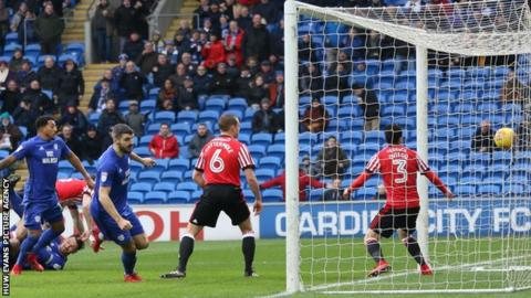 Callum Paterson's brace against Sunderland doubled his Cardiff goal tally for the season