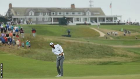 Johnson's 67 sets a daunting target at US Open