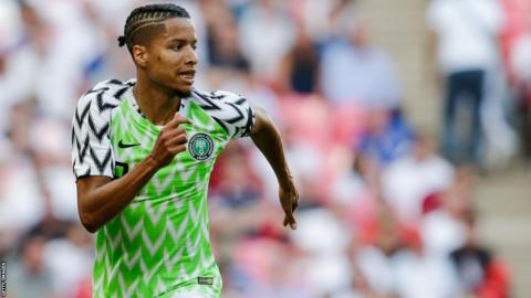 Tyronne Ebuehi in action for Nigeria