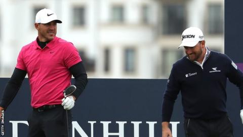 Brooks Koepka was partnered with Graeme McDowell in last year's Alfred Dunhill Links in Scotland