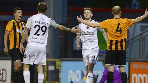 Co Antrim Shield: Jamie McGonigle scores five as Carrick crash out
