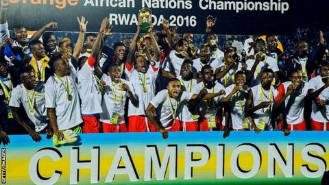DR Congo winning the 2016 African Nations Championship