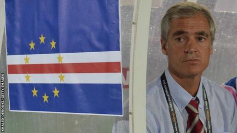 Cape Verde coach Rui Aguas