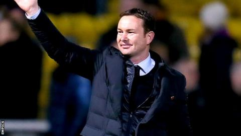 Plymouth Argyle manager Derek Adams