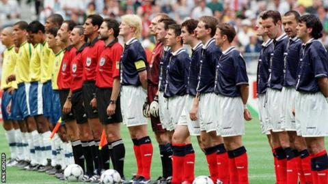 Scotland played Brazil in the opening game of the 1998 World Cup