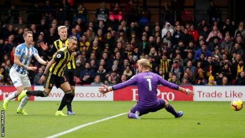 Roberto Pereyra's superb individual goal opened the scoring for Watford at home to Huddersfield.