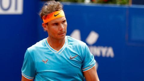 Rafael Nadal at the Barcelona Open