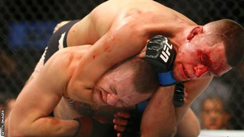 Diaz submits McGregor