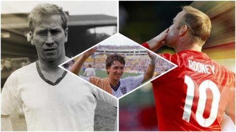 Bobby Charlton, Gary Lineker, Wayne Rooney