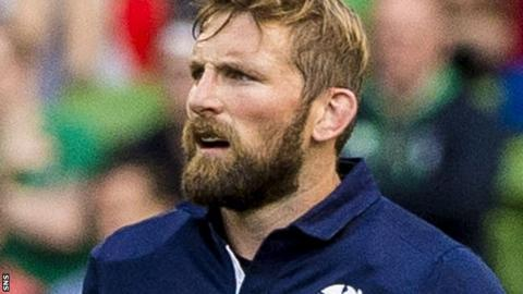 John Barclay in action for Scotland in their pre-World Cup warm-up Test against Ireland last August