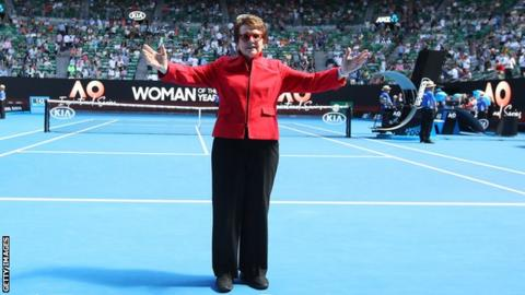 Former world number one Billie Jean King