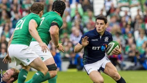 Scrum-half Sam Hidalgo-Clyne will make his first Scotland start on Saturday