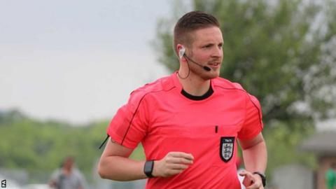 Ryan Atkin has refereed four National League games this season, most recently Dagenham & Redbridge's win against Aldershot on 16 November