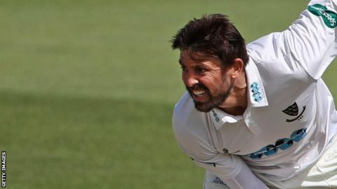 Sussex bowler David Wiese took three wickets for just runs on day one against Durham