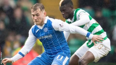 George Williams playing for St Johnstone