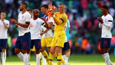 Jordan Pickford looks set to start for England when they begin their World Cup campaign against Tunisia