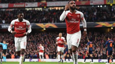 Alexandre Lacazette celebrating