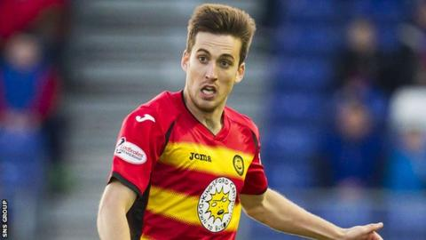Partick Thistle full-back Callum Booth