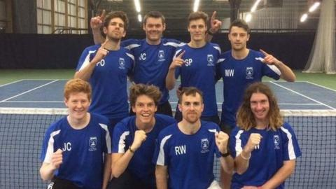 The Channel Islands' victorious men's team after beating Staffordshire