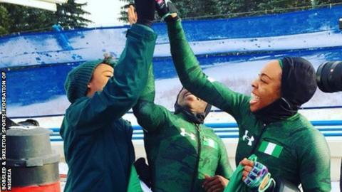 Nigeria's bobsled team