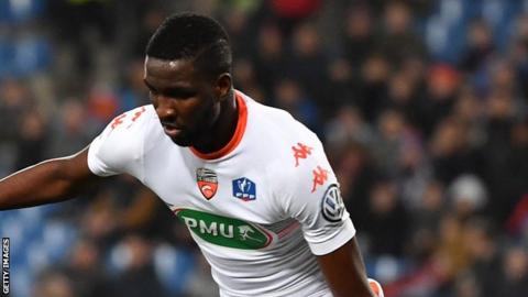 Guinea's Ibrahima Sory Conte in action for Lorient