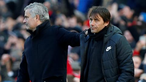Jose Mourinho with Antonio Conte