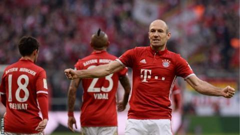 Bayern Munich winger Arjen Robben