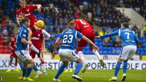 Rangers beat St Johnstone 2-0 in their last meeting in Perth in September