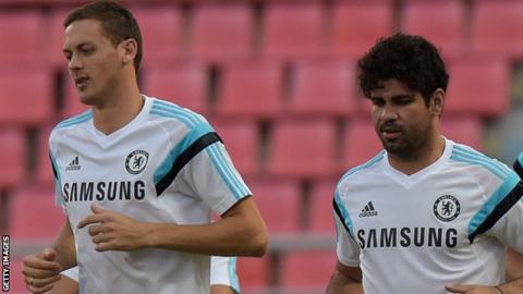 Nemanja Matic and Diego Costa