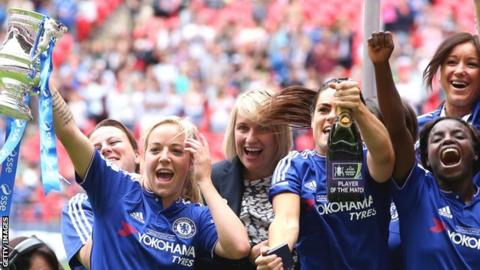 Chelsea celebrate Women's FA Cup final win