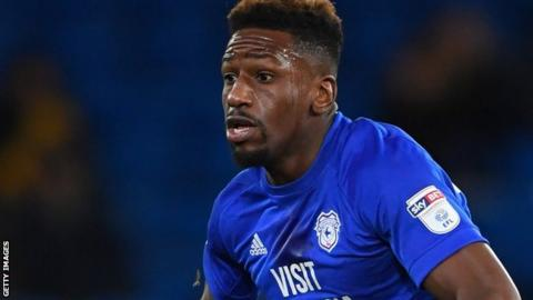 Omar Bogle in action for Cardiff City