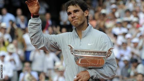 Rafael Nada with the France Open trophy