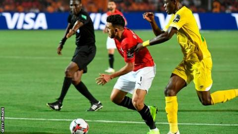 Africa Cup of Nations: Hosts Egypt beat Zimbabwe in first