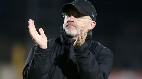 McDermott's Glentoran lost in the Europa League play-off final to Cliftonville