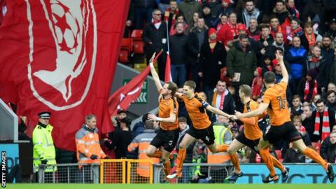 Wolves beat Liverpool in 2017