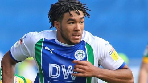 On-loan Chelsea defender Reece James was captain for the day and got a standing ovation when Wigan boss Paul Cook took him off late on