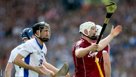 Joe Canning appeals to the referee during this year's All-Ireland Hurling Final